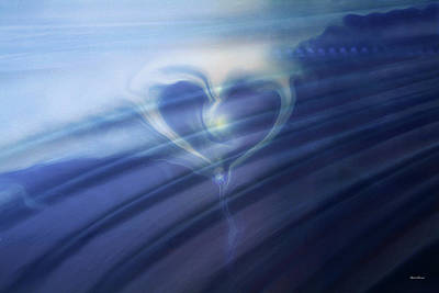 Abstract Hearts Digital Art -  Breeze by Linda Sannuti