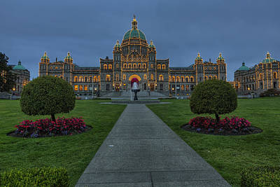 Photograph -  British Columbia Parliament Buildings by Mark Kiver