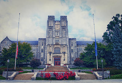 Burruss Hall Art Print by Kathy Jennings