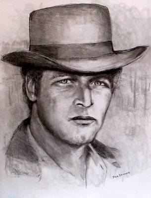 Drawing -  Butch Cassidy by Jack Skinner