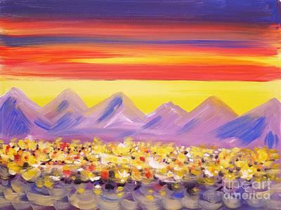Calgary Christmas Lights  Art Print by Anna  Duyunova
