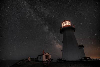 Digital Art -  Cap Gaspe Milky Way by Patrick Groleau