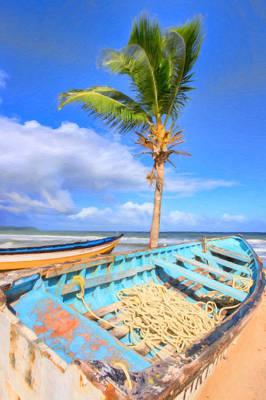 Photograph -  Caribbean Fishing Boats by Nadia Sanowar