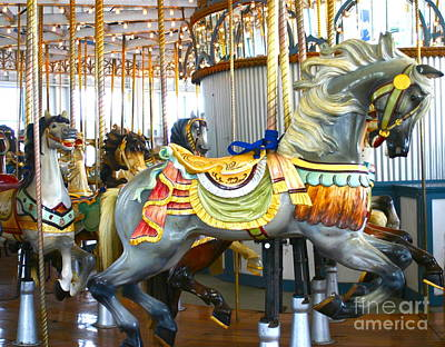 Photograph -  Carousel C by Cindy Lee Longhini