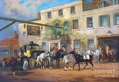 Changing Horses To A Post-chaise Outside The 'george' Posting-house Art Print