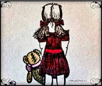 Little Girls Mixed Media -   Childhood Lost by MaryLee Parker