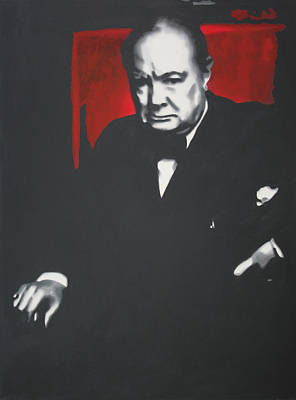 - Churchill - Art Print by Luis Ludzska