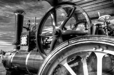 Photograph -  Clayton And Shuttleworth Traction Engine by David Pyatt