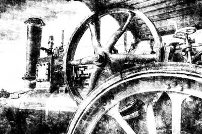 Photograph -  Clayton And Shuttleworth Traction Engine Vintage by David Pyatt