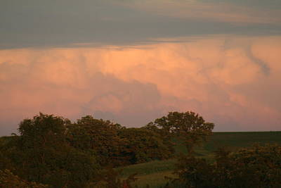 Clouds Of A Distant Storm Art Print by Linda Ostby