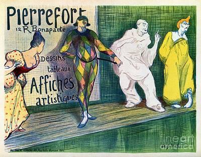 Belle Epoque Digital Art -  Clowns Themed Vintage French Art Gallery Advertisement by Heidi De Leeuw