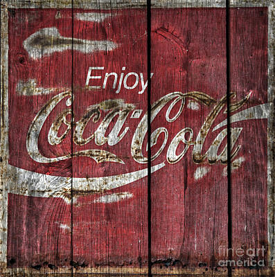 Coca Cola Sign Barn Wood Art Print
