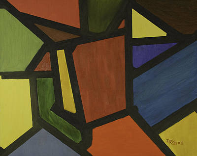Painting -  Color Shapes by Jose Rojas