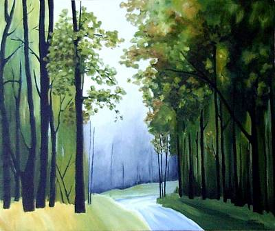 Painting -  Country Road by Carola Ann-Margret Forsberg