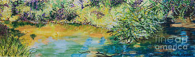 Painting -  Creekside by Lucinda  Hansen