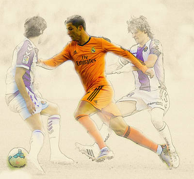 Cristiano Ronaldo Digital Art -  Cristiano Ronaldo  Challenges For Ball by Don Kuing