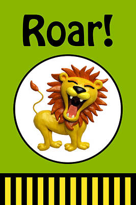 Cute Lion Roaring Original