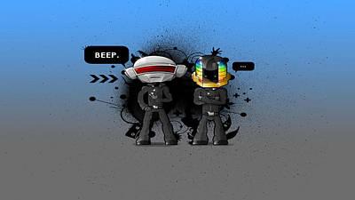 Daft Punk Painting -  Daft Punk - 210 by Jovemini ART