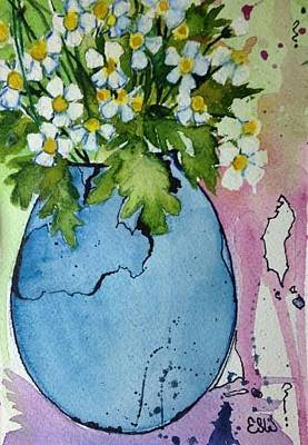 Painting -  Daisys by Esther Woods