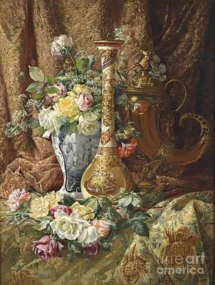 Painting -  Decorative Still Life With Decorative Elements by Celestial Images