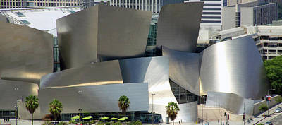 Photograph - @ Disney Hall, Los Angeles by Jim McCullaugh