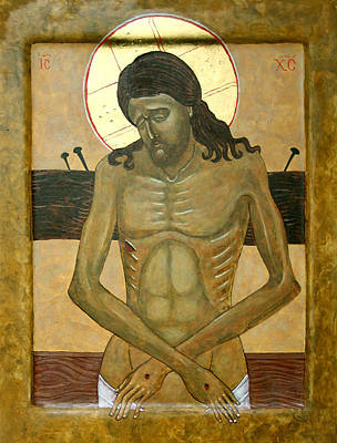 Russian Icon Painting -  Do Not Cry For Me by Phillip Schwartz
