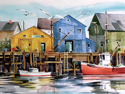 Dockside   Art Print by Art Scholz