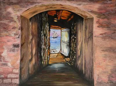 Door Of No Return Art Print by Tony Vegas