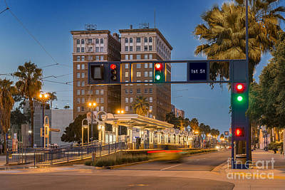 Photograph -  Downtown Long Beach Metro Downtown by David Zanzinger