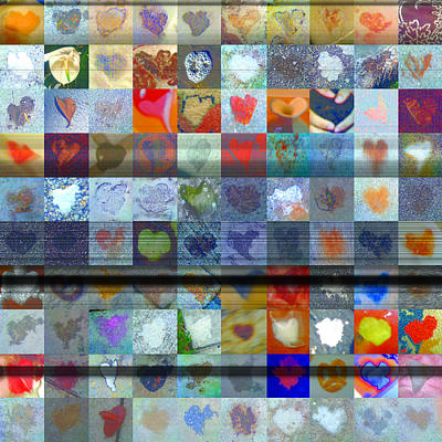 Grid Of Heart Photograph -  Eight Hundred Series by Boy Sees Hearts