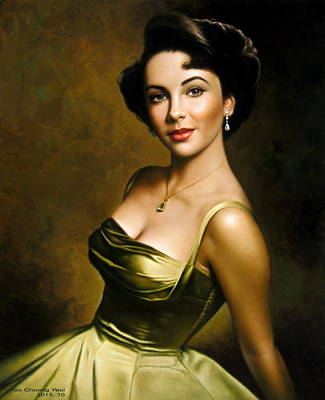 Painting -  Elizabeth Taylor 2 by Yoo Choong Yeul
