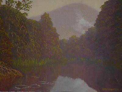 Painting -  Ellery River 1977 by Terry Perham