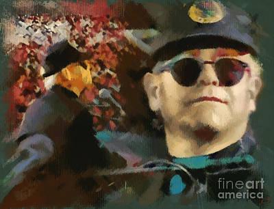 Elton John Digital Art -  Elton John by Sergey Lukashin