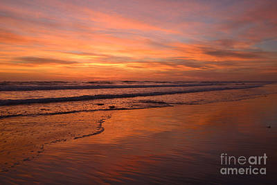 Photograph -  Encinitas Surf And Sky by John F Tsumas