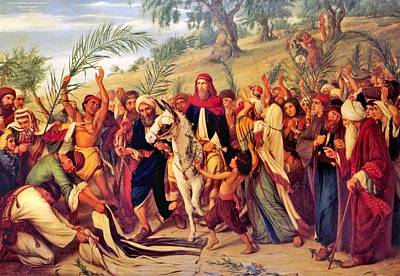 Jerusalem Painting -  Entry Into Jerusalem by MotionAge Designs