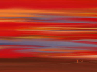 Art Print featuring the digital art  Evening In Ottawa Valley by Rabi Khan