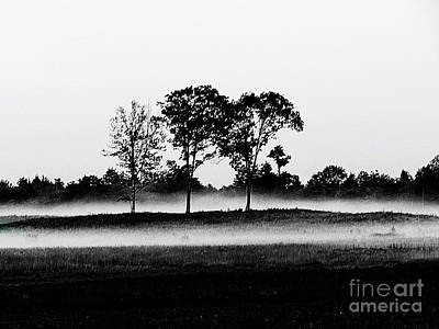 Photograph -  Evening Mist Black And White by Expressionistart studio Priscilla Batzell