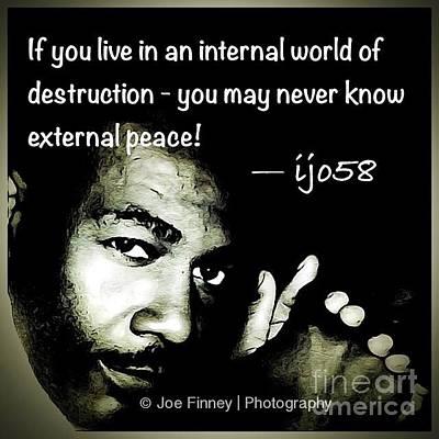 Photograph -  External Peace - No. 2015 by Joe Finney