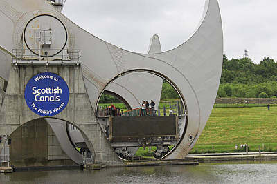 Photograph -  Falkirk Wheel by Tony Murtagh