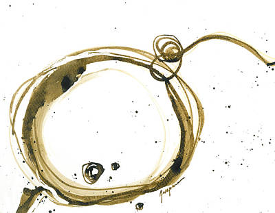 Painting -  Fearless Move - Revolving Life Collection - Modern Abstract Ink Artwork by Patricia Awapara