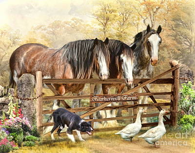 Recently Sold - Animals Digital Art -  Featherwell Farm by Trudi Simmonds