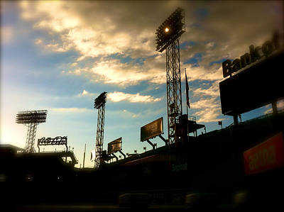 Photograph -  Fenway Lights Fenway Park David Pucciarelli  by Iconic Images Art Gallery David Pucciarelli