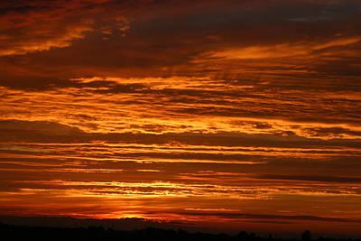Firery Sky Art Print by Dave Clark