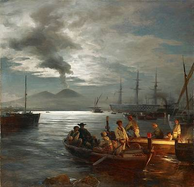 Sea Painting -  Fishermen In The Gulf Of Naples by MotionAge Designs
