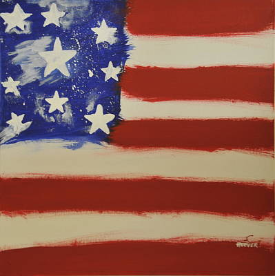 Painting -  Flag Number Four  -   New Glory I by Brian Hoover
