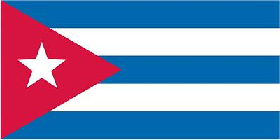 National Painting -  Flag Of Cuba by Unknown