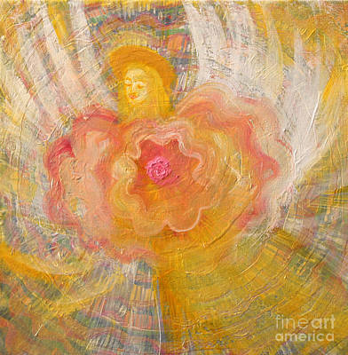 Painting -  Flower Angel by Anne Cameron Cutri