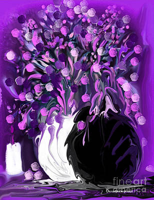 Flower Art Love Purple Flowers  Love Pink Flowers Art Print
