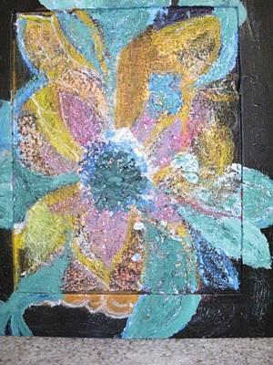 Flowover Flowers Uncropped  Art Print by Anne-Elizabeth Whiteway