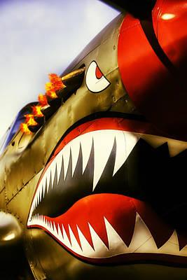 Flying Tiger Attack Art Print